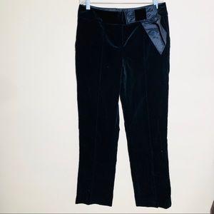J. MENDEL PARIS velvet straight leg pants 6-8